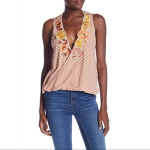 NWT Free People Floral Frida Tank Neutral